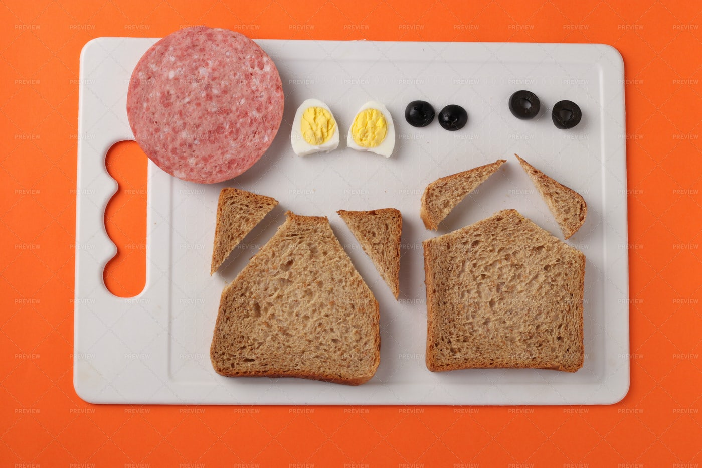 Sandwich In Shape Bull: Stock Photos