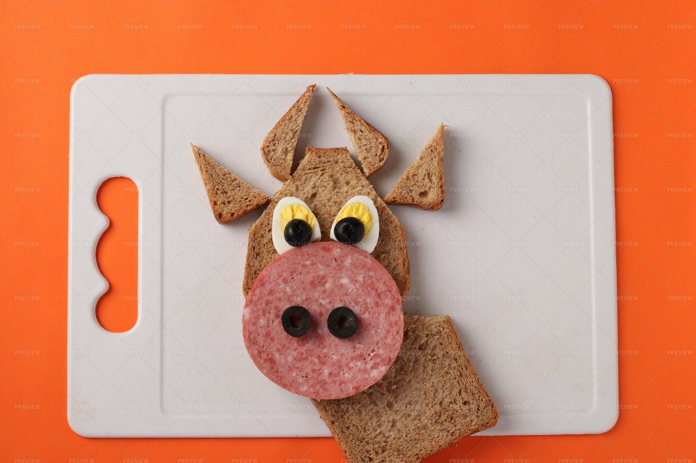 Bull Sandwich Design: Stock Photos