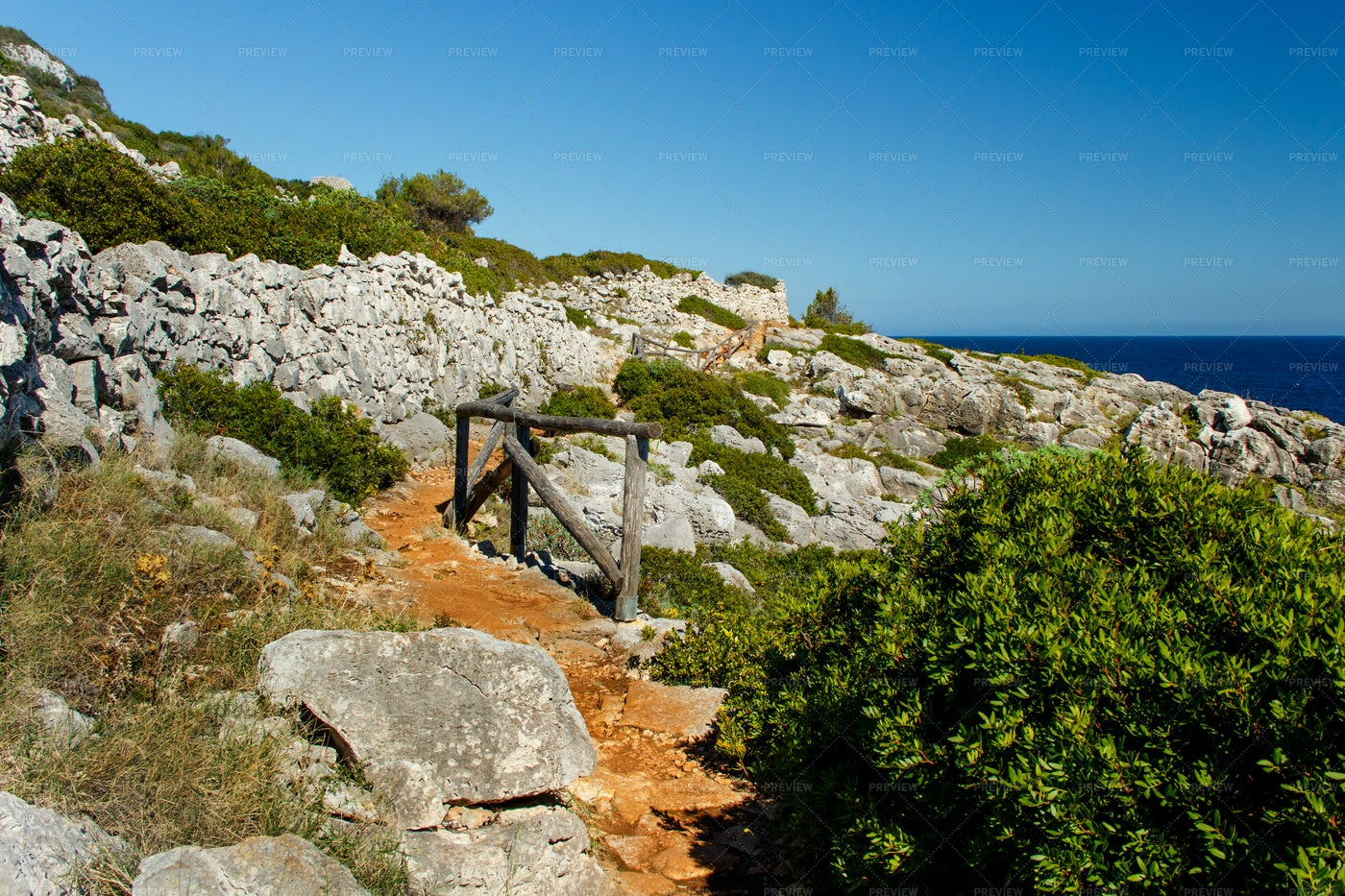 Cipolliane Caves Coastal Path: Stock Photos