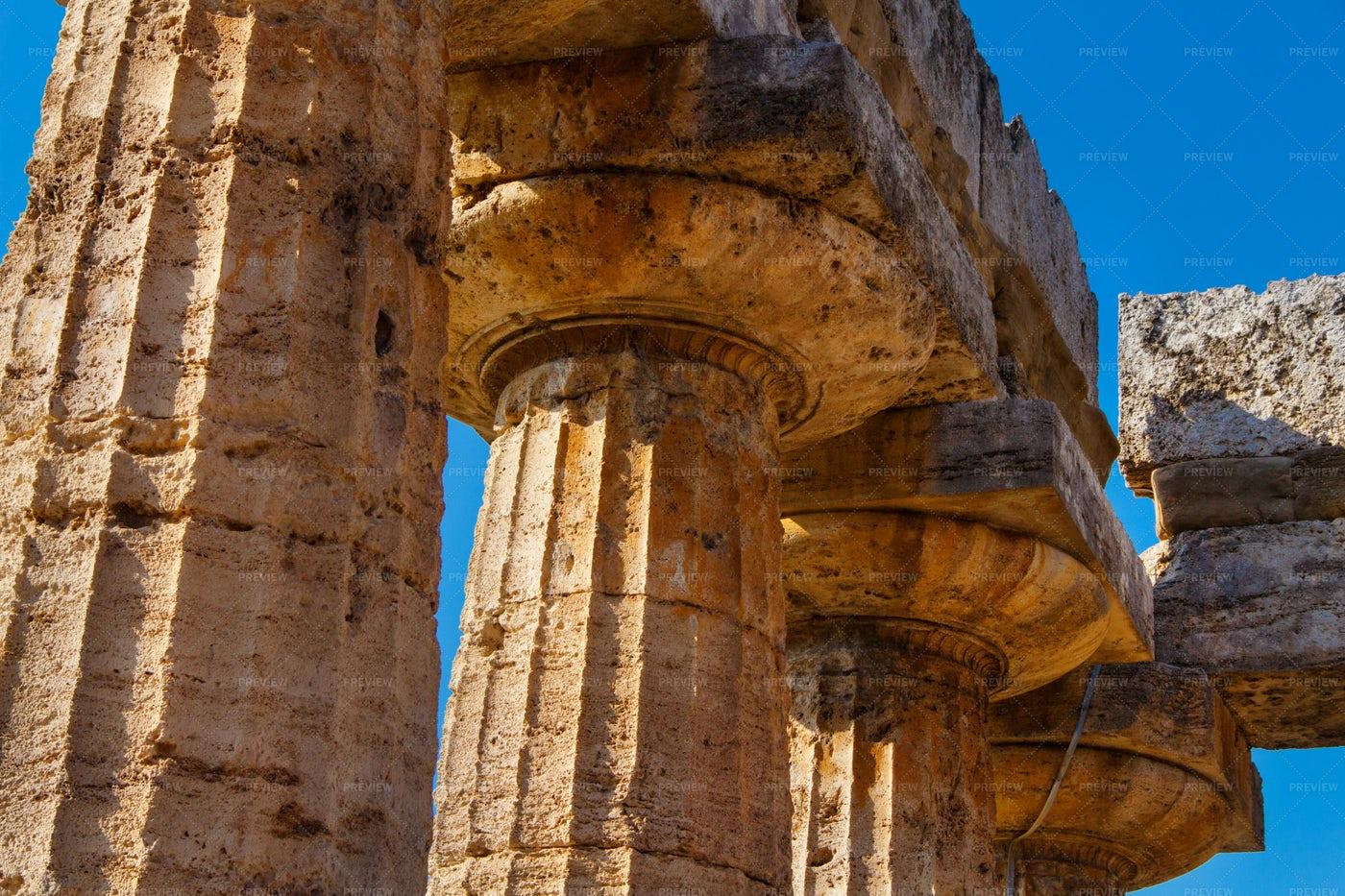 Greek Doric Columns: Stock Photos
