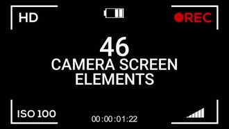 46 Camera Screen Elements: Motion Graphics