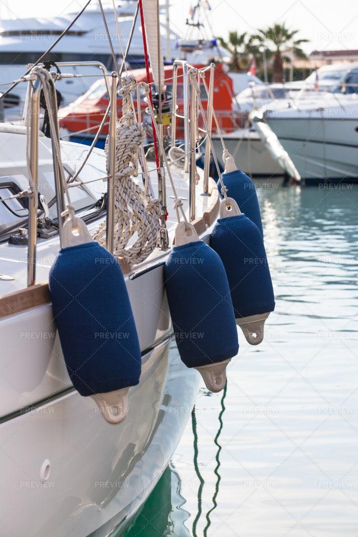 Sailboat Side Buoys: Stock Photos