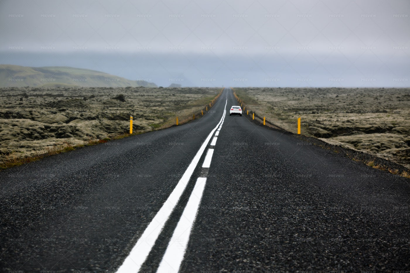 Highway Through Iceland: Stock Photos