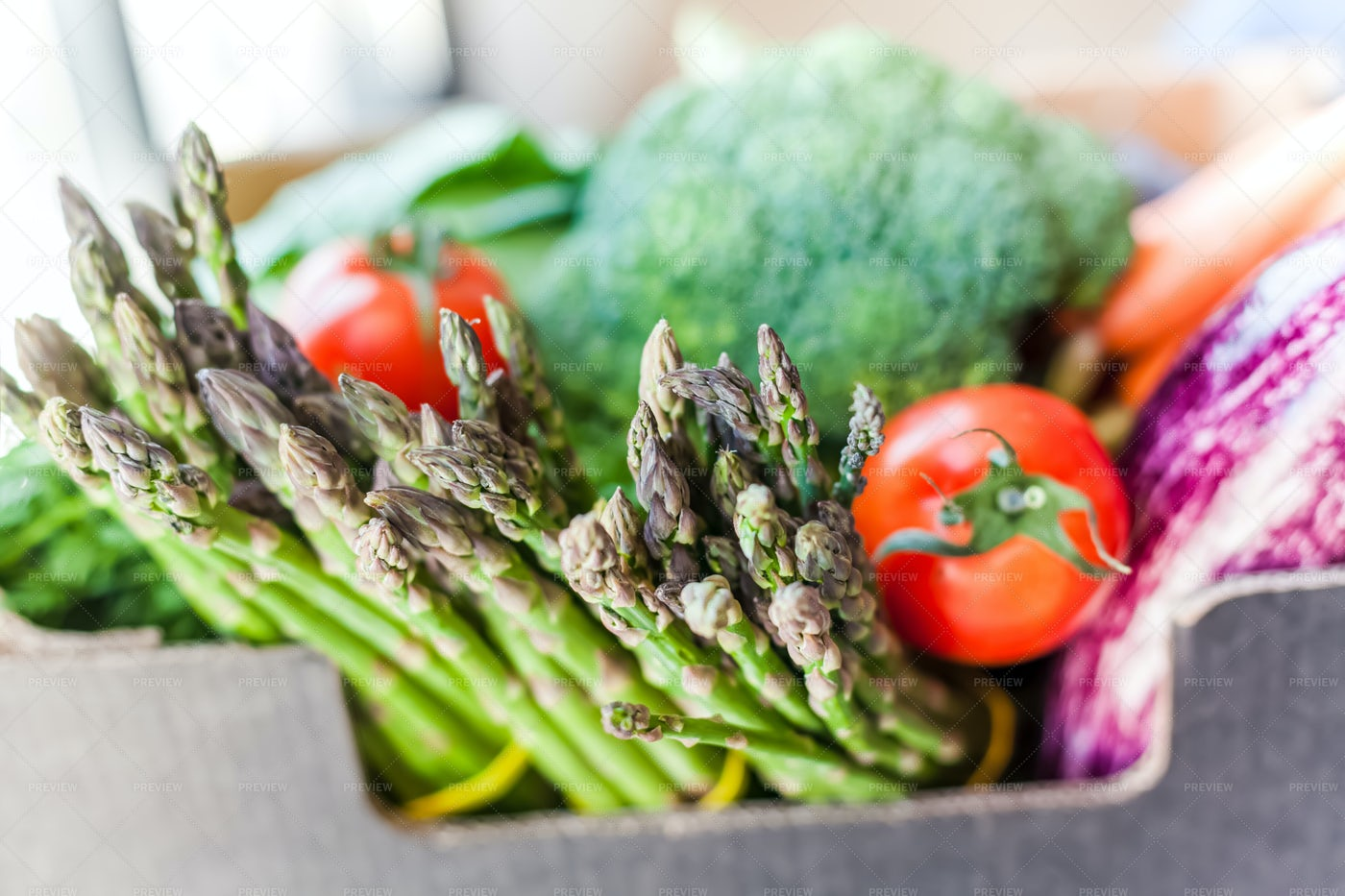 Vegetables In Box: Stock Photos