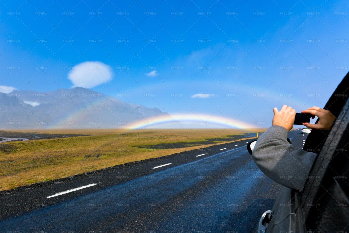 Shooting A Rainbow: Stock Photos
