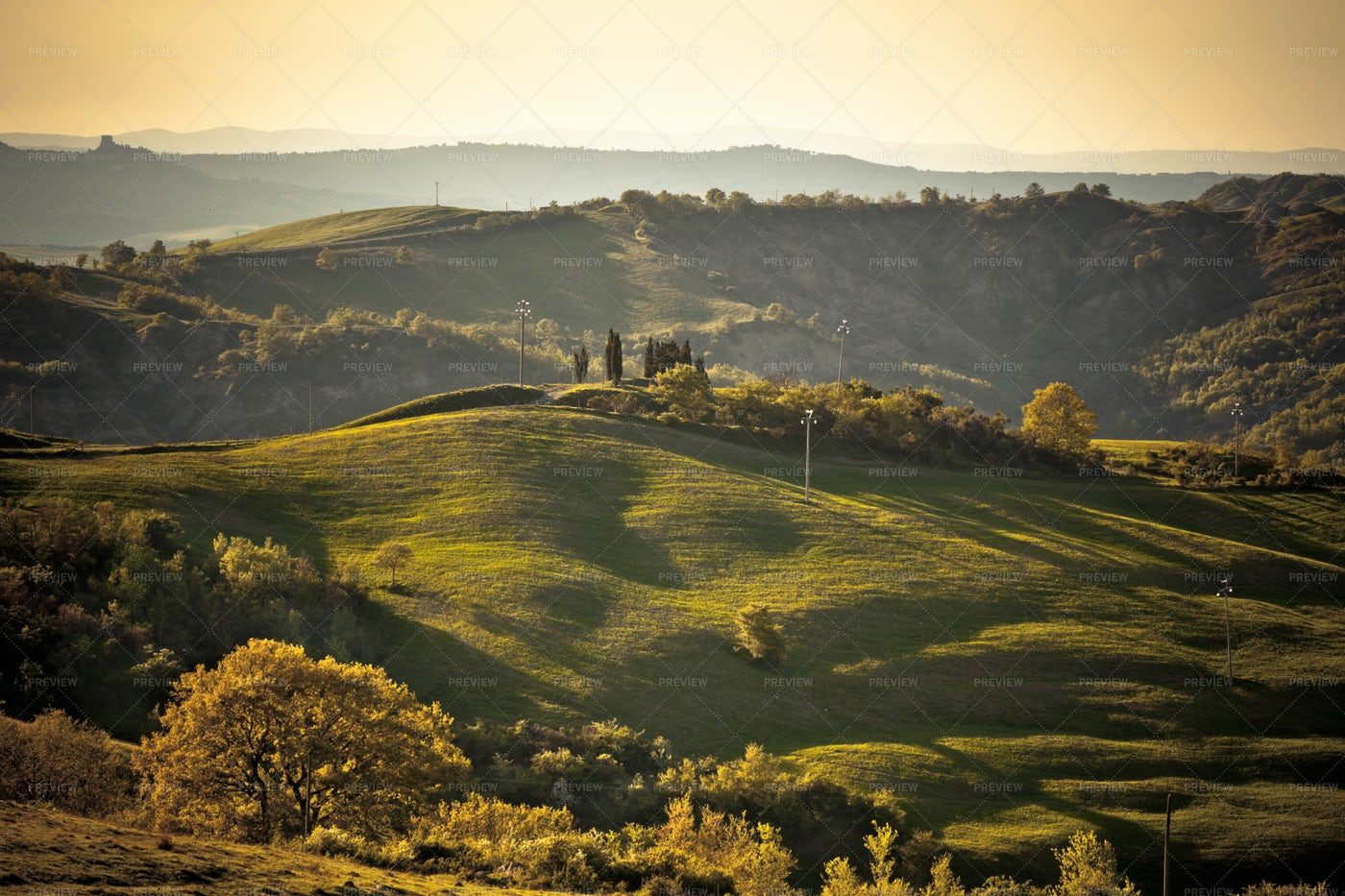 Tuscan Hills Italy Landscape: Stock Photos