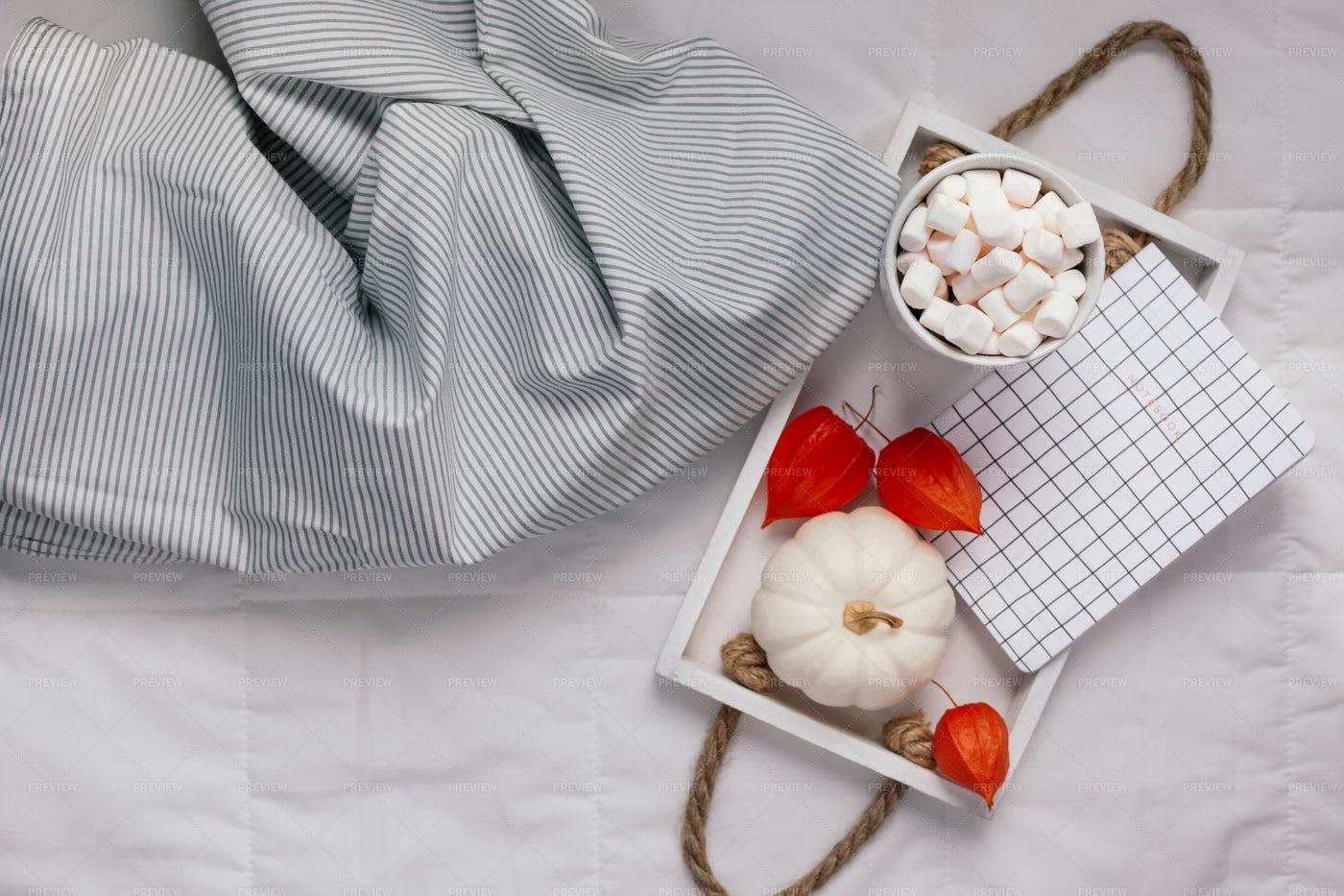 Tray With Cozy Food: Stock Photos