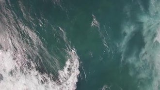 Ocean With Big Foamy Waves: Stock Video