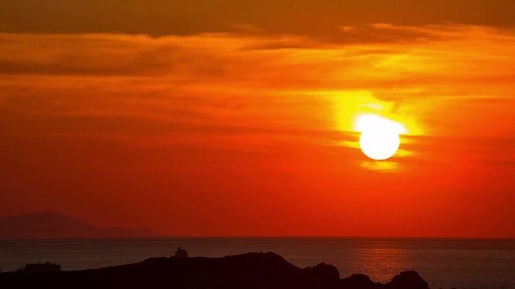 Sunset On The Mediterranean Sea: Stock Video