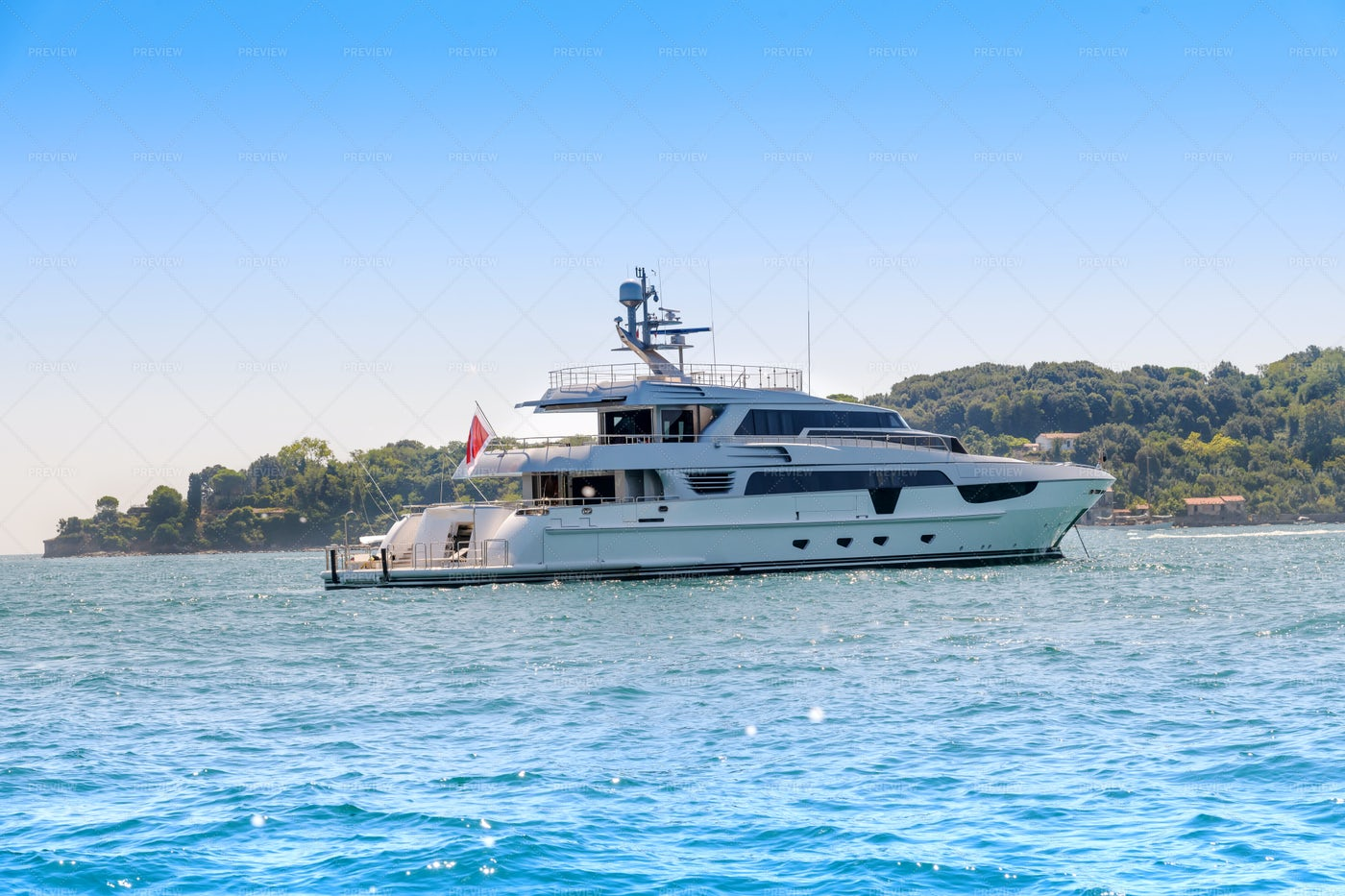 Luxury Motor Yacht: Stock Photos