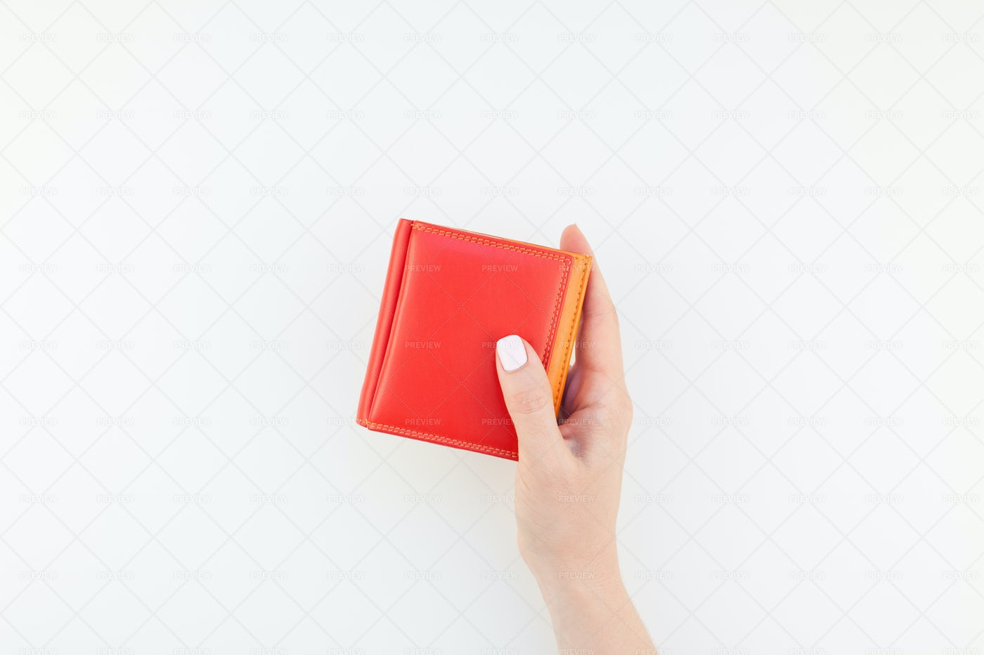 Hand With Red Wallet: Stock Photos