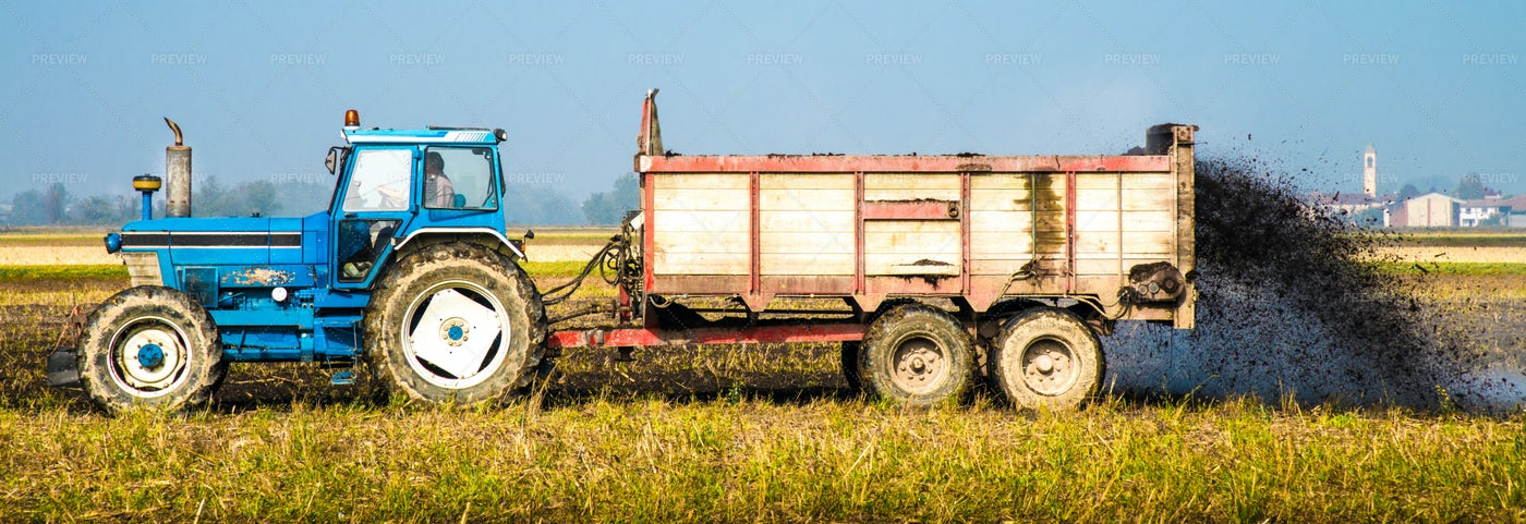 Tractor In Field: Stock Photos