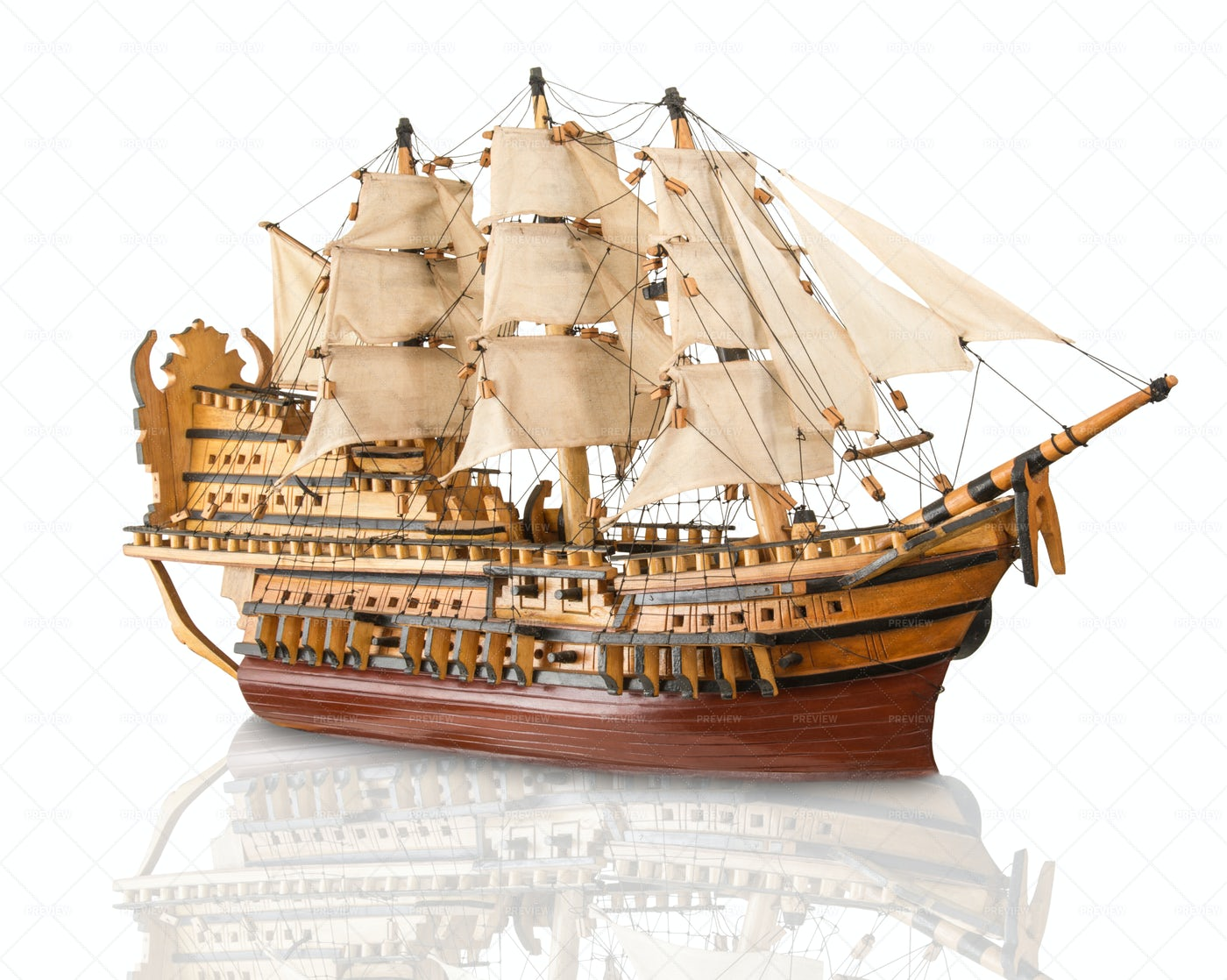 Model Of Galleon: Stock Photos