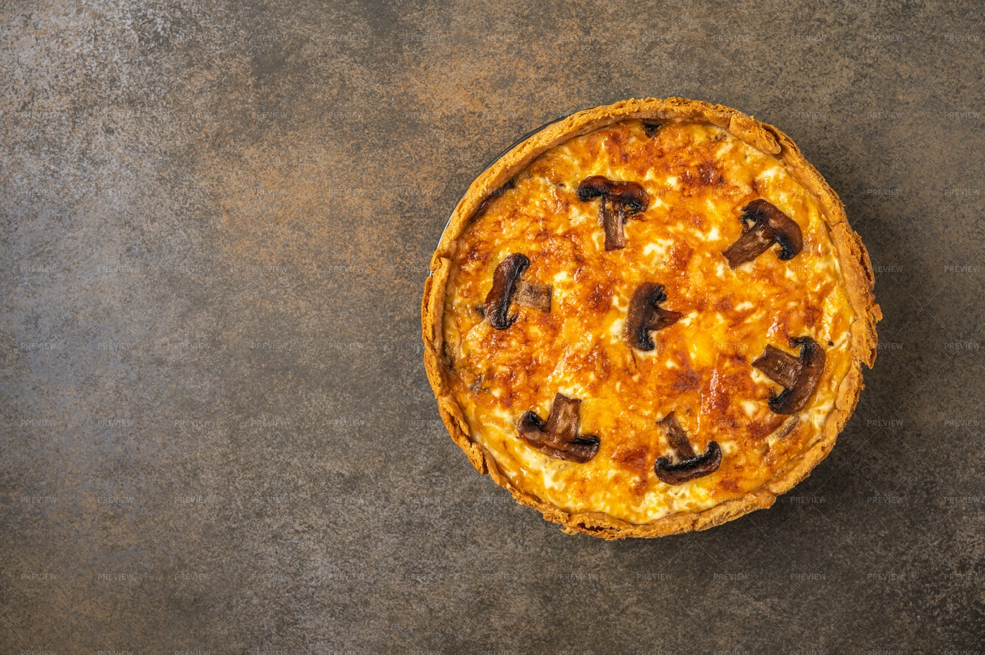 Quiche With Mushrooms: Stock Photos