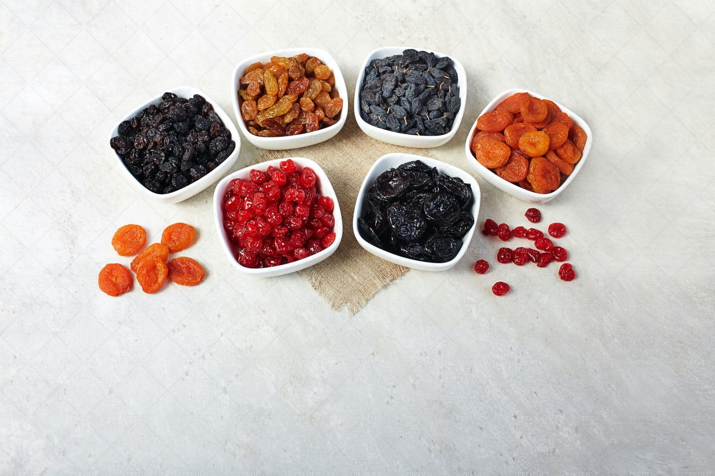 Different Dried Fruits: Stock Photos