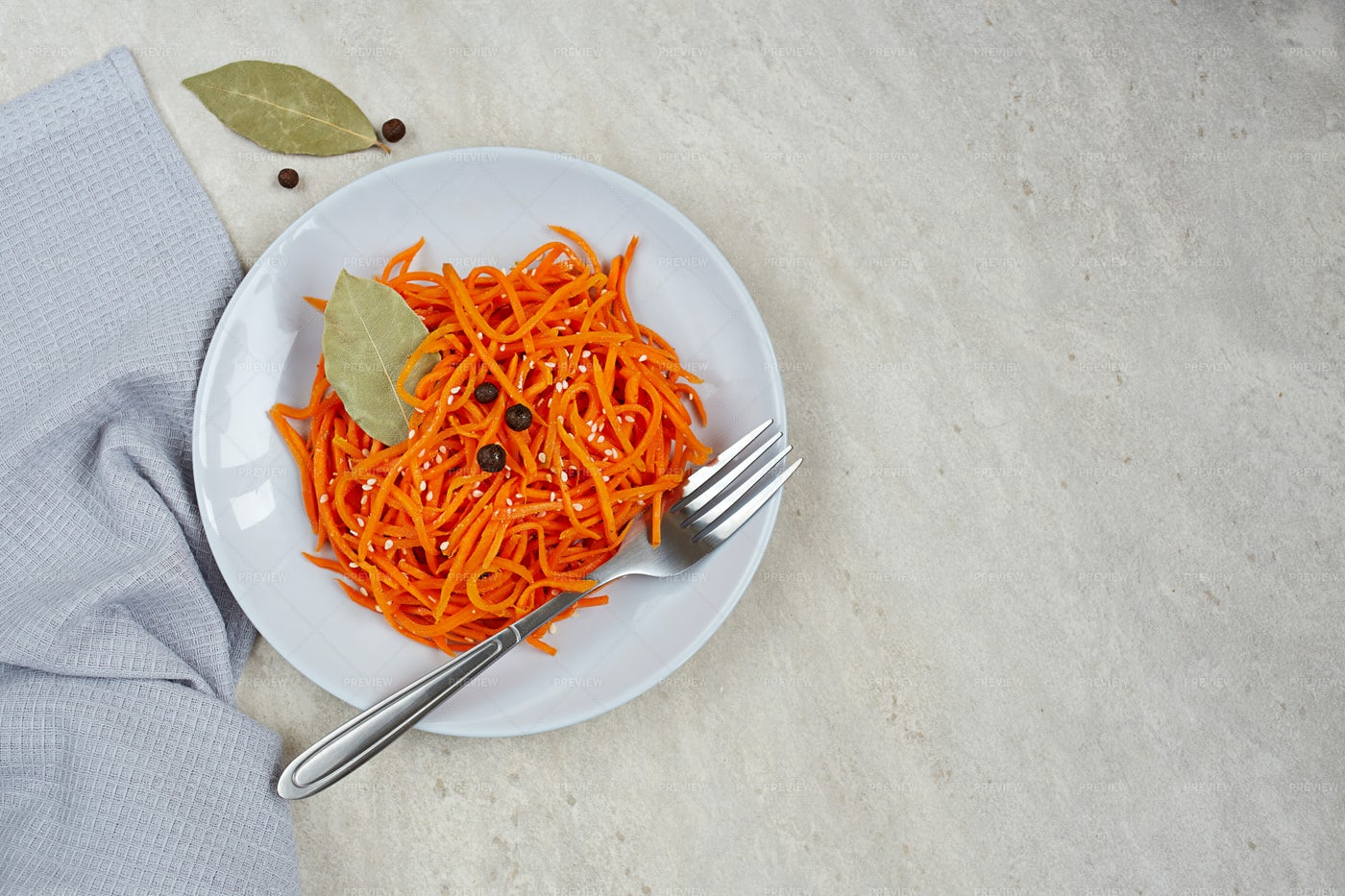 Spicy Carrot Salad: Stock Photos