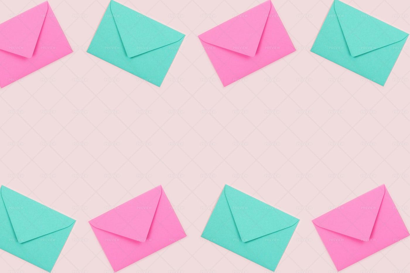 Colorful Envelopes: Stock Photos