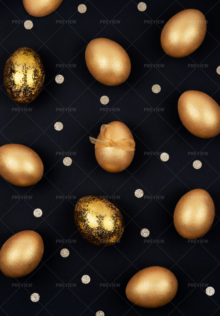 Easter Golden Eggs: Stock Photos