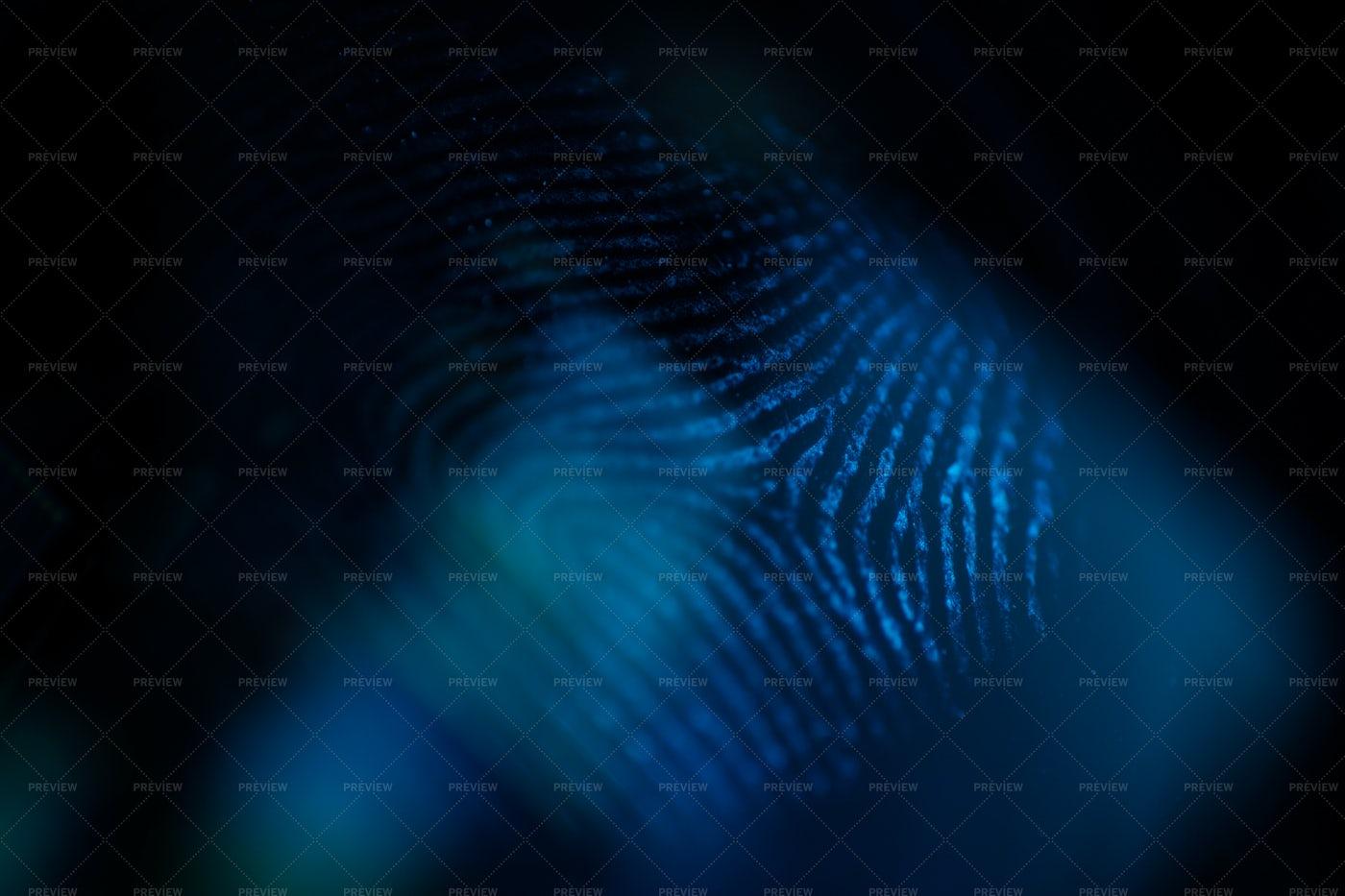 Fingerprint In The Dark: Stock Photos