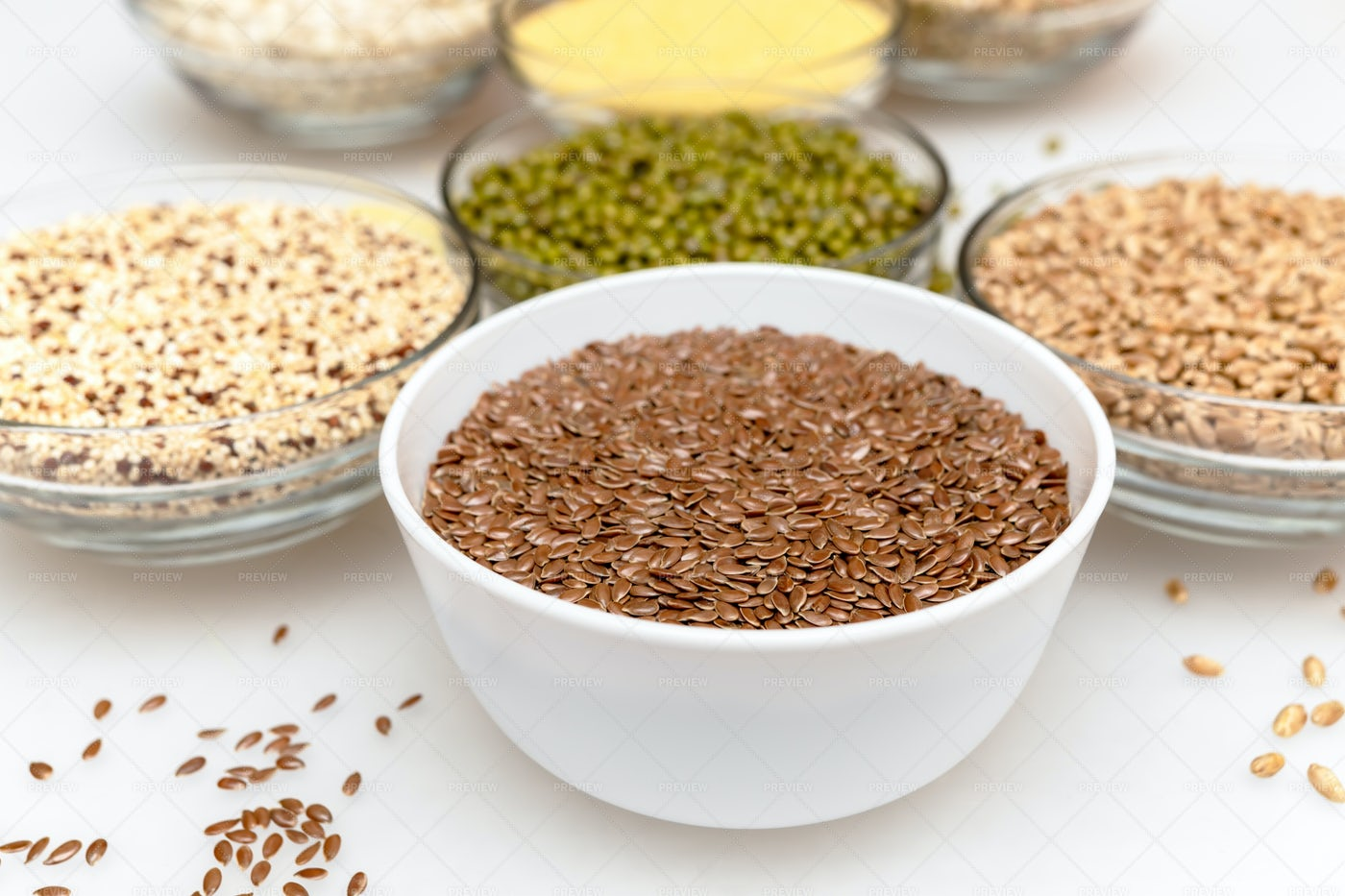 Bowls With Seeds: Stock Photos