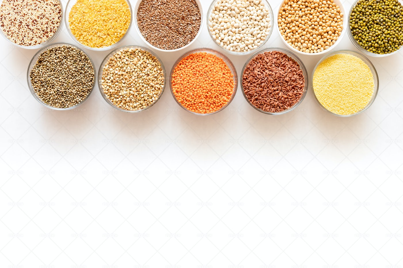 Cereals On White: Stock Photos
