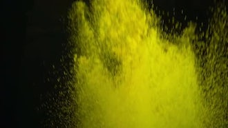 Yellow Powder Paint Exploding: Stock Video