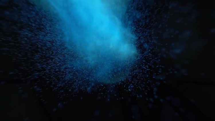 Blue Powder Paint Exploding: Stock Video