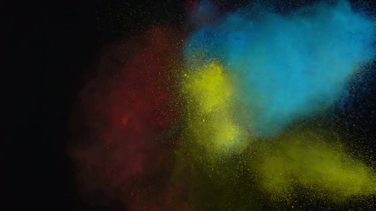 Mixture Of Colored Powder Paints: Stock Video