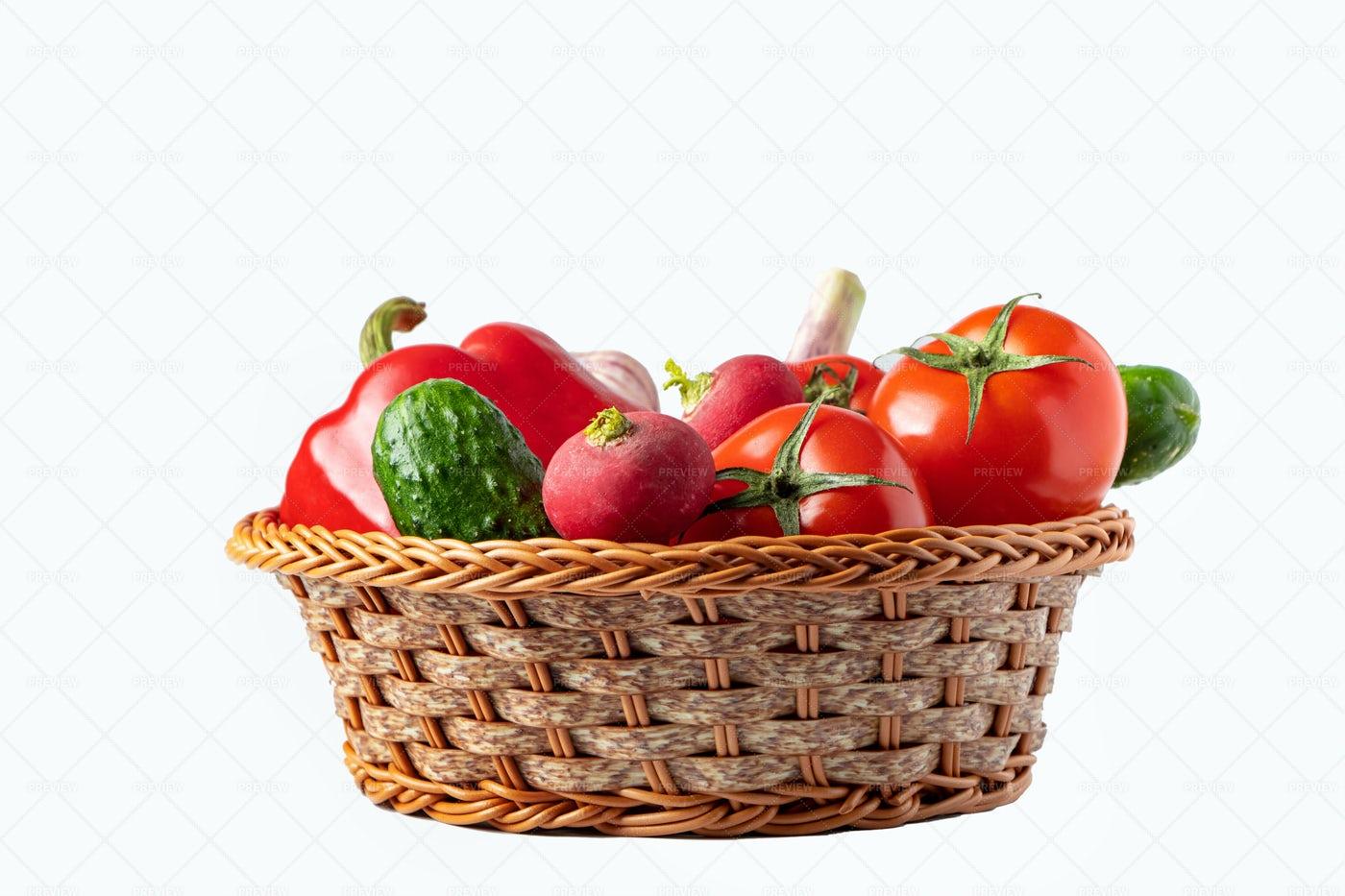 Fresh Vegetable Basket: Stock Photos