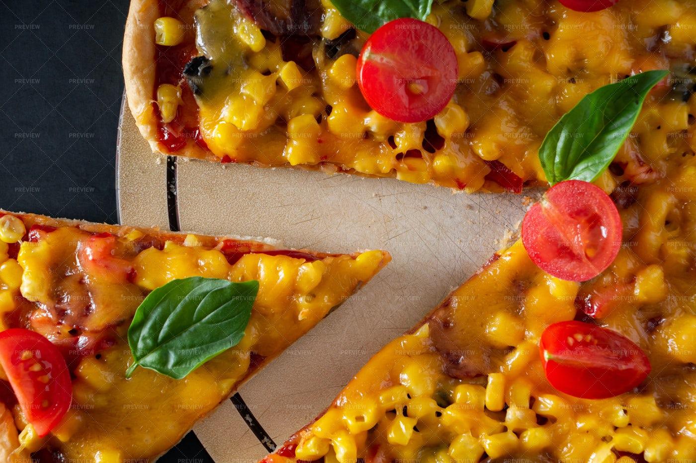 Corn Pizza: Stock Photos