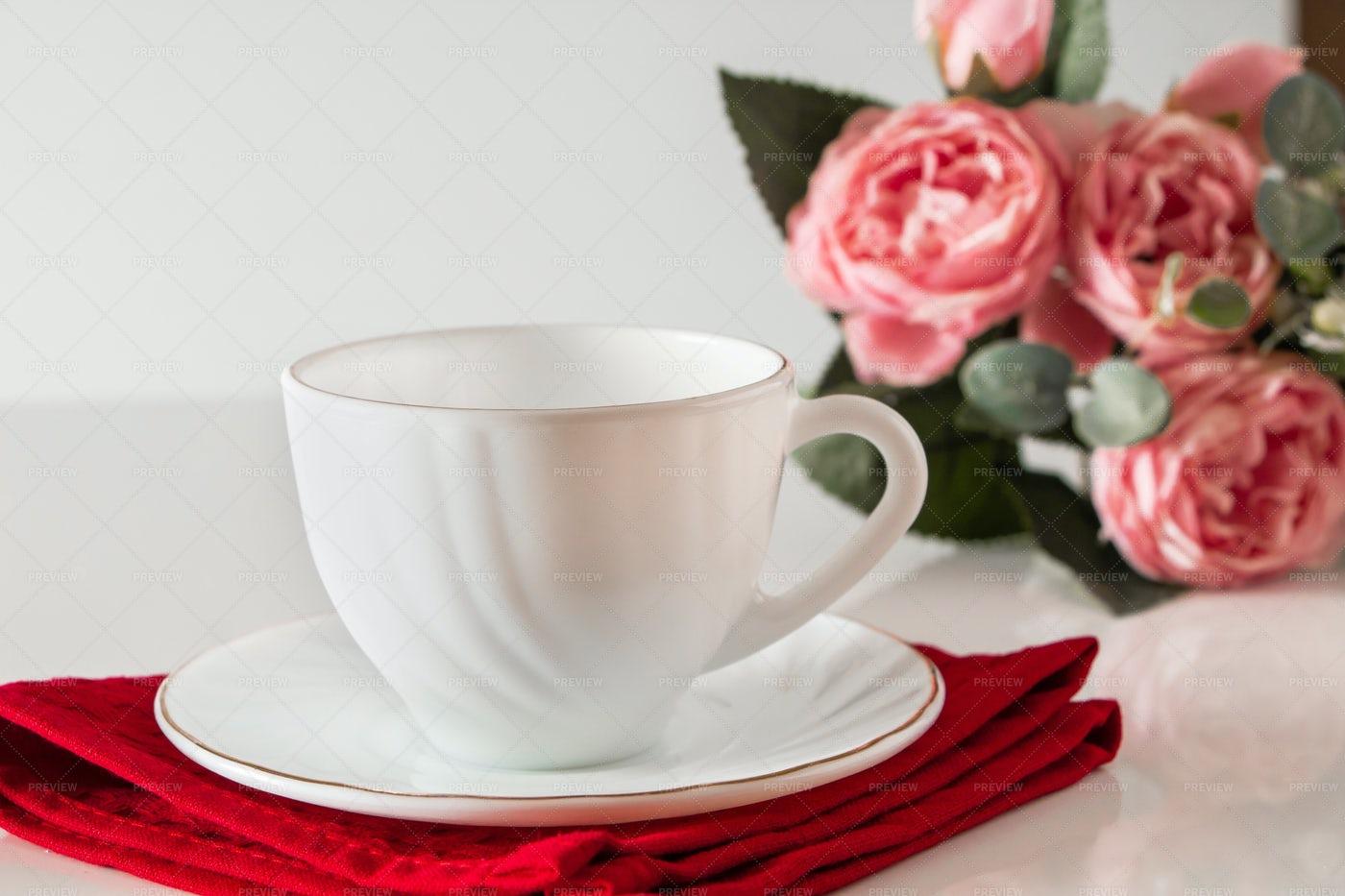 Empty Tea Cup: Stock Photos