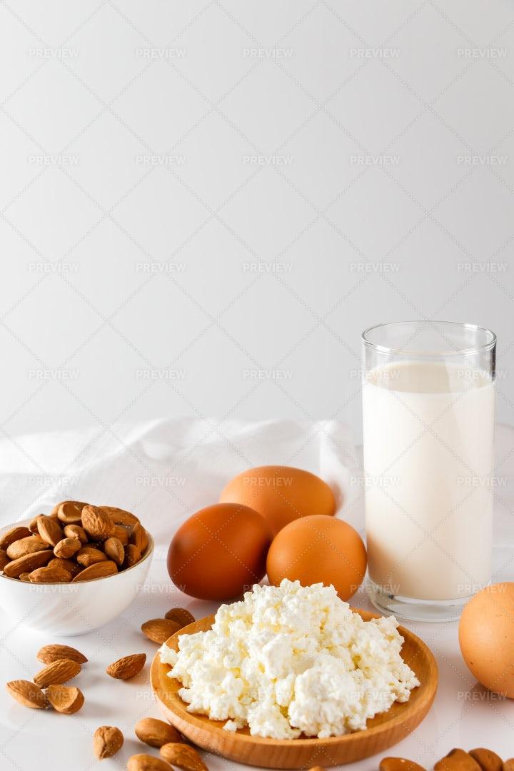 A Presentation Of Proteins: Stock Photos