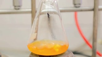 Condensation Using A Laboratory Flask: Stock Video