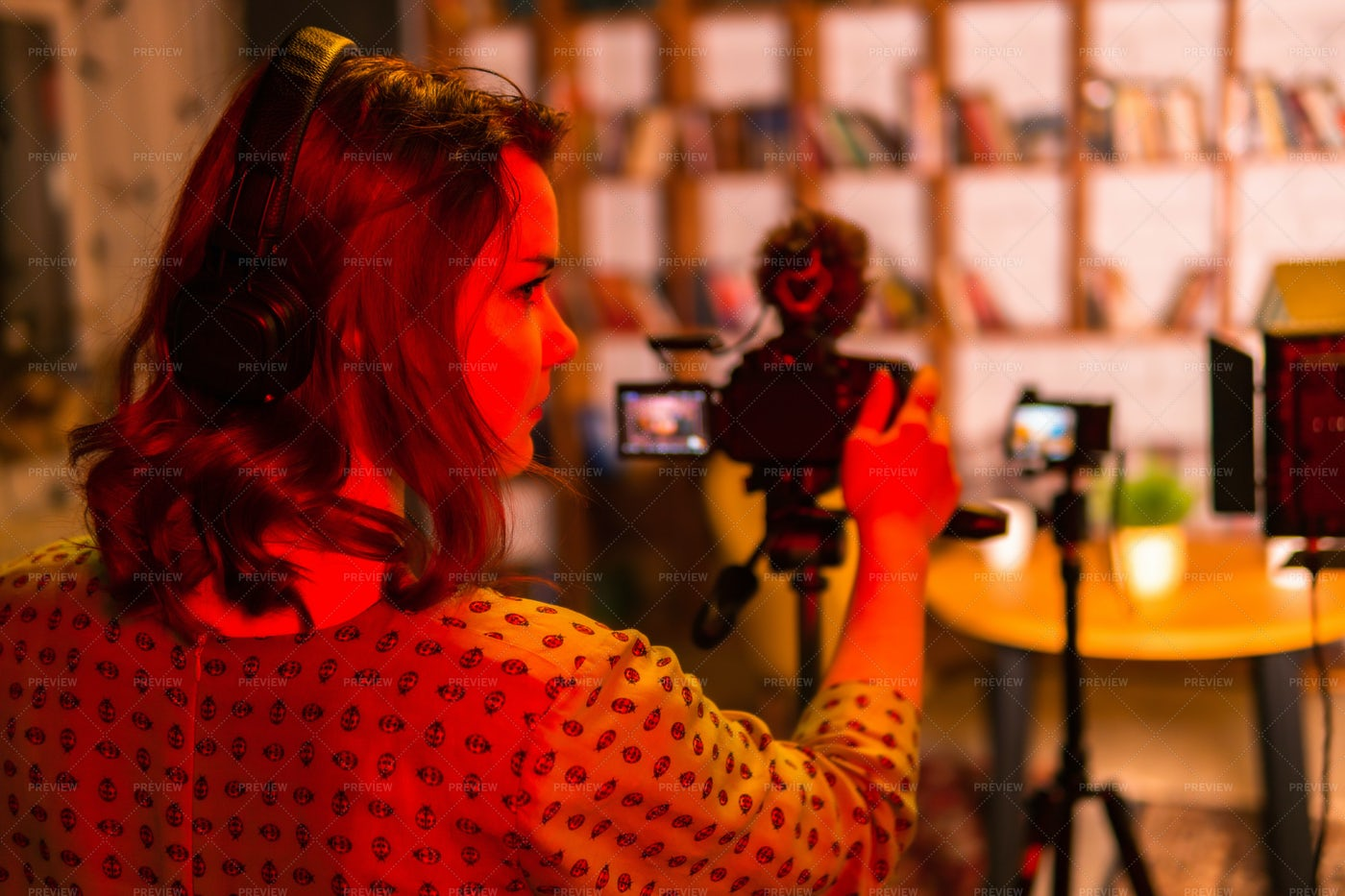 Independent Filmmaker Woman: Stock Photos