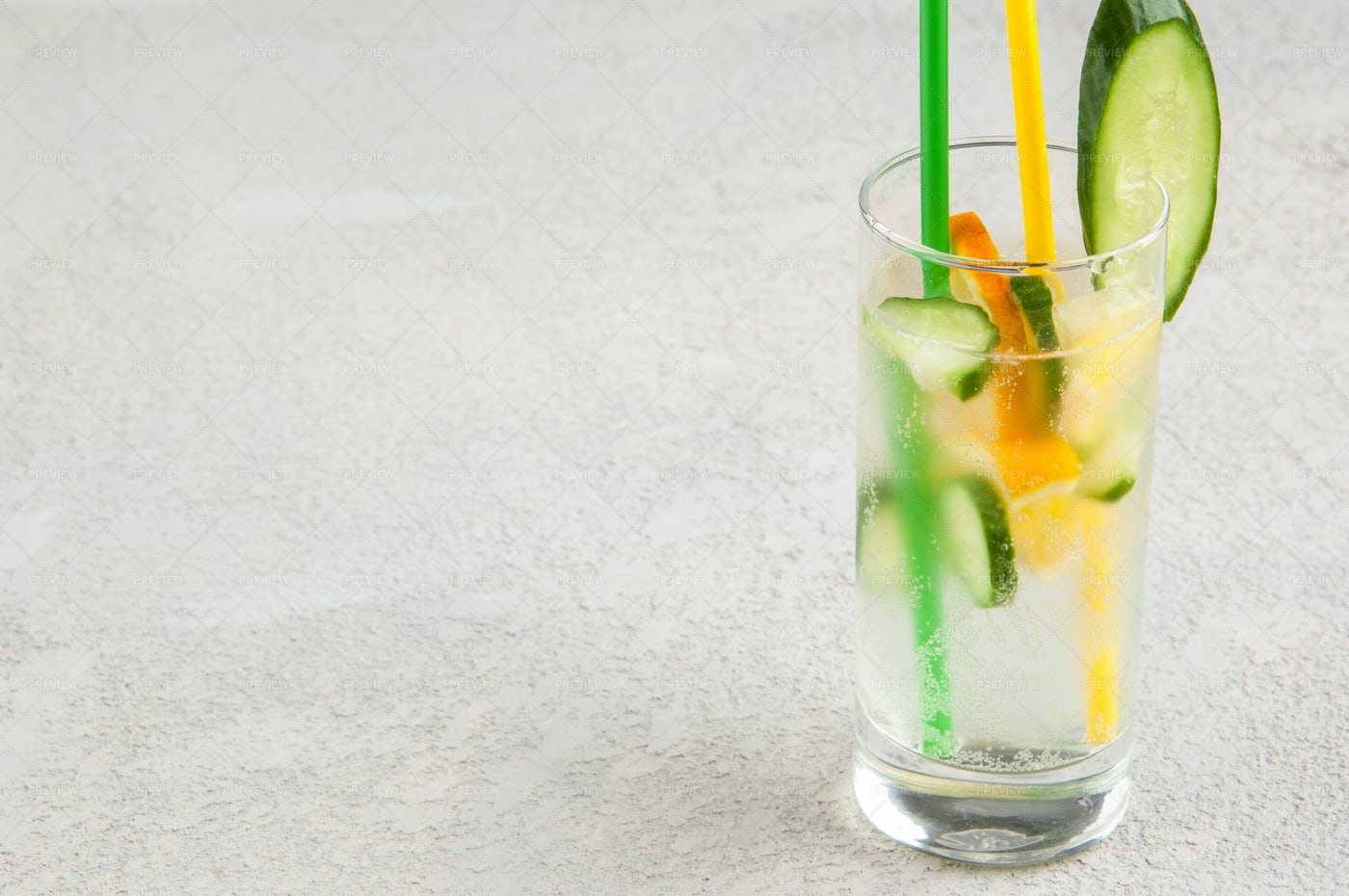 Fresh Beverage In A Glass: Stock Photos
