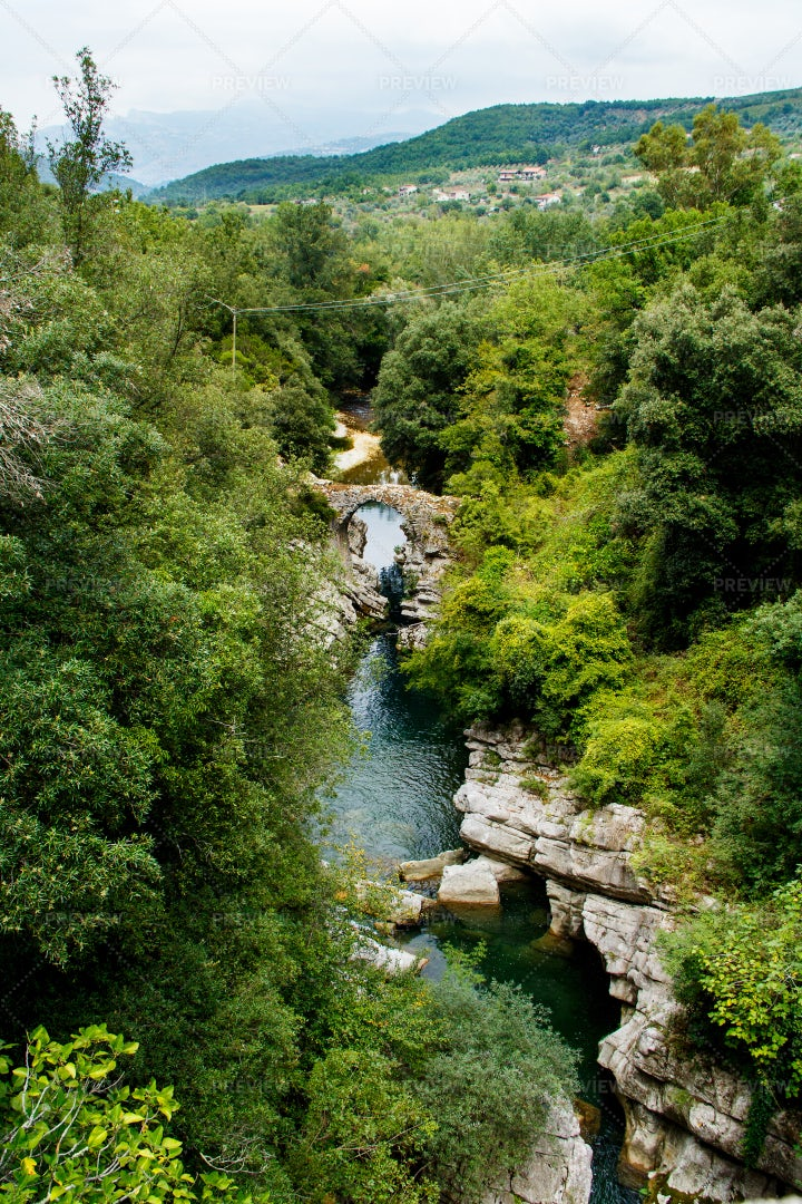 A Medieval Bridge In Campania: Stock Photos