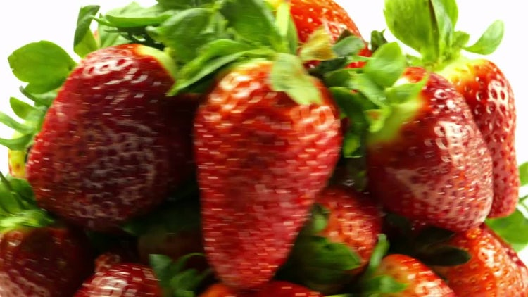 Stockpile Of Fresh Strawberries Rotating: Stock Video