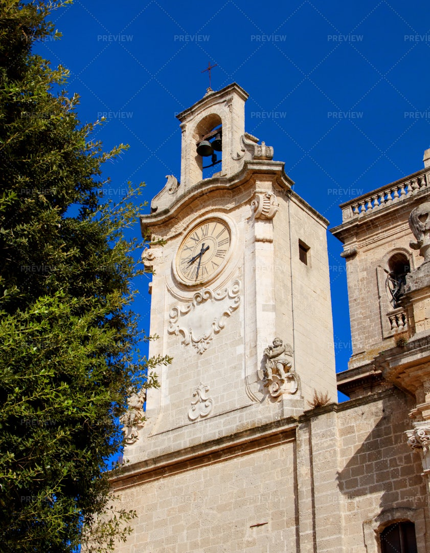 Cathedral Basilica Of Oria Bell Tower: Stock Photos