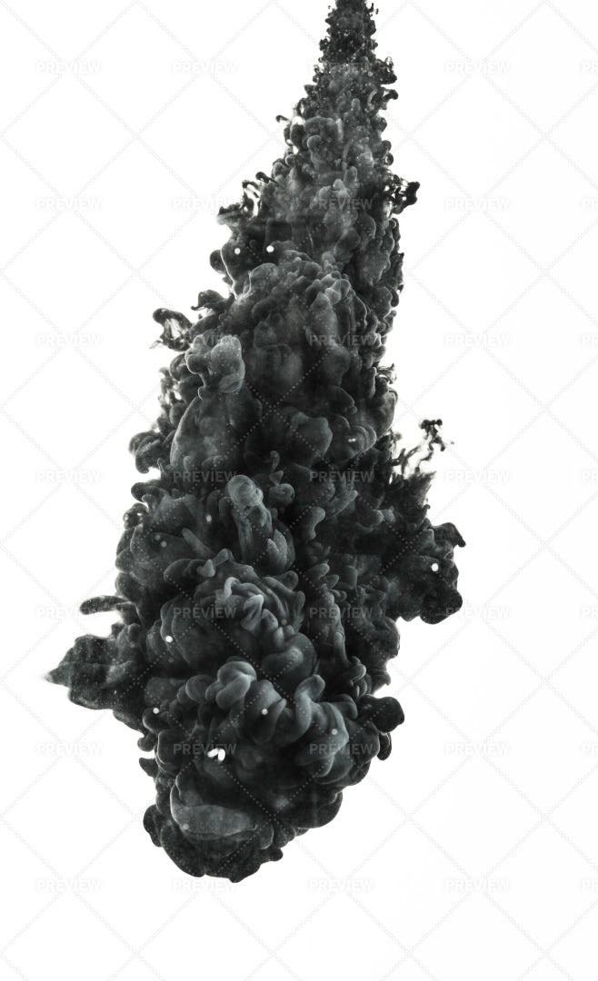 Spray Of Black Ink: Stock Photos