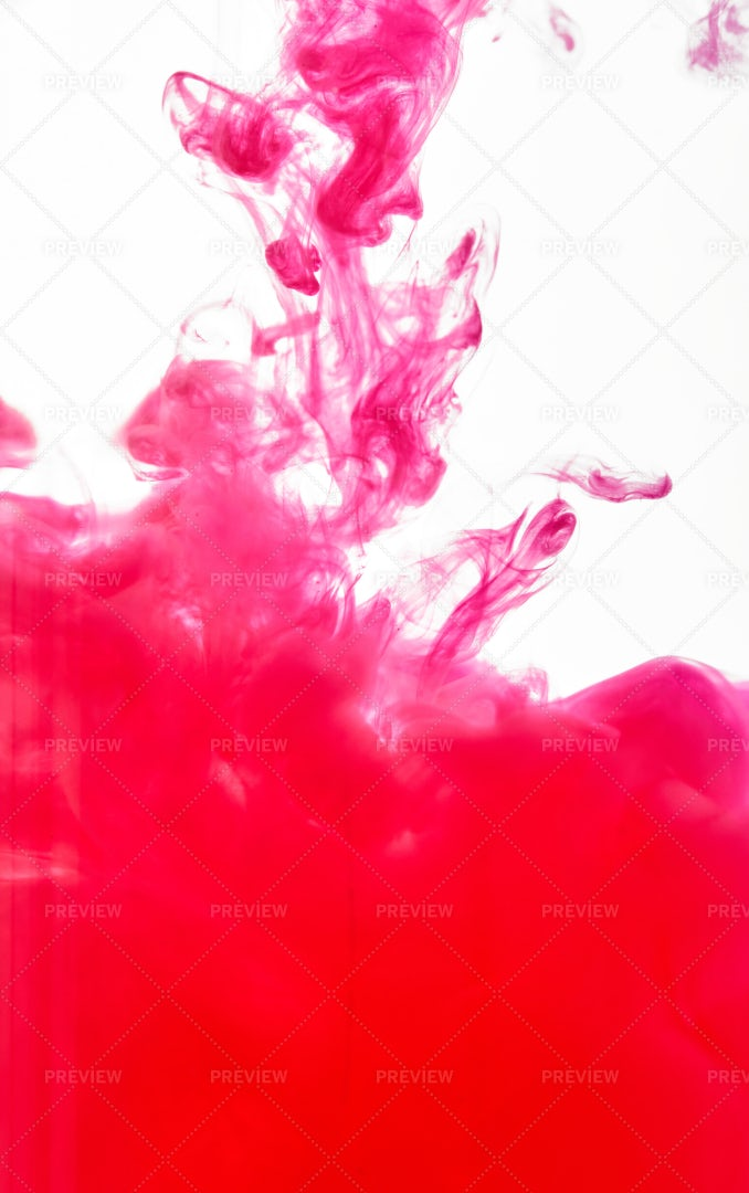 Cloud Of Red Paint: Stock Photos