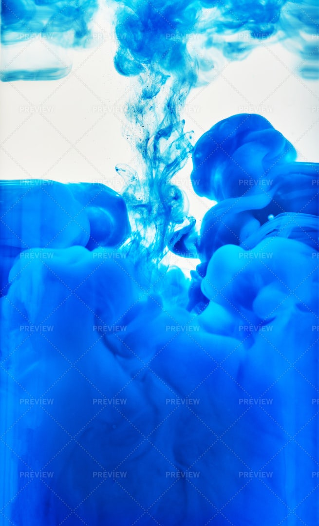 Spray Of Blue Colors: Stock Photos