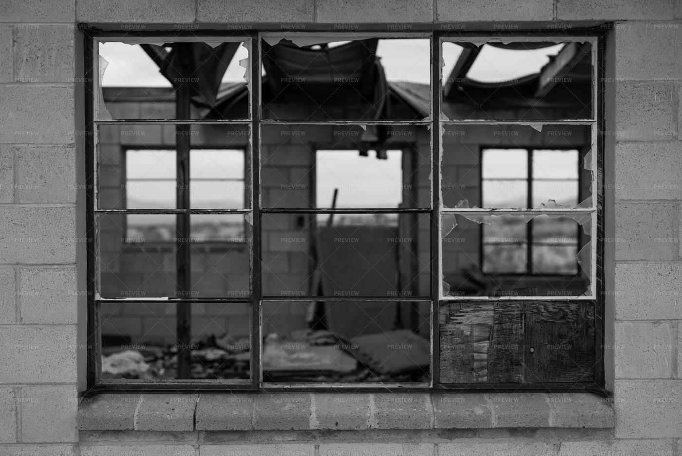 Window In A Derelict Building: Stock Photos