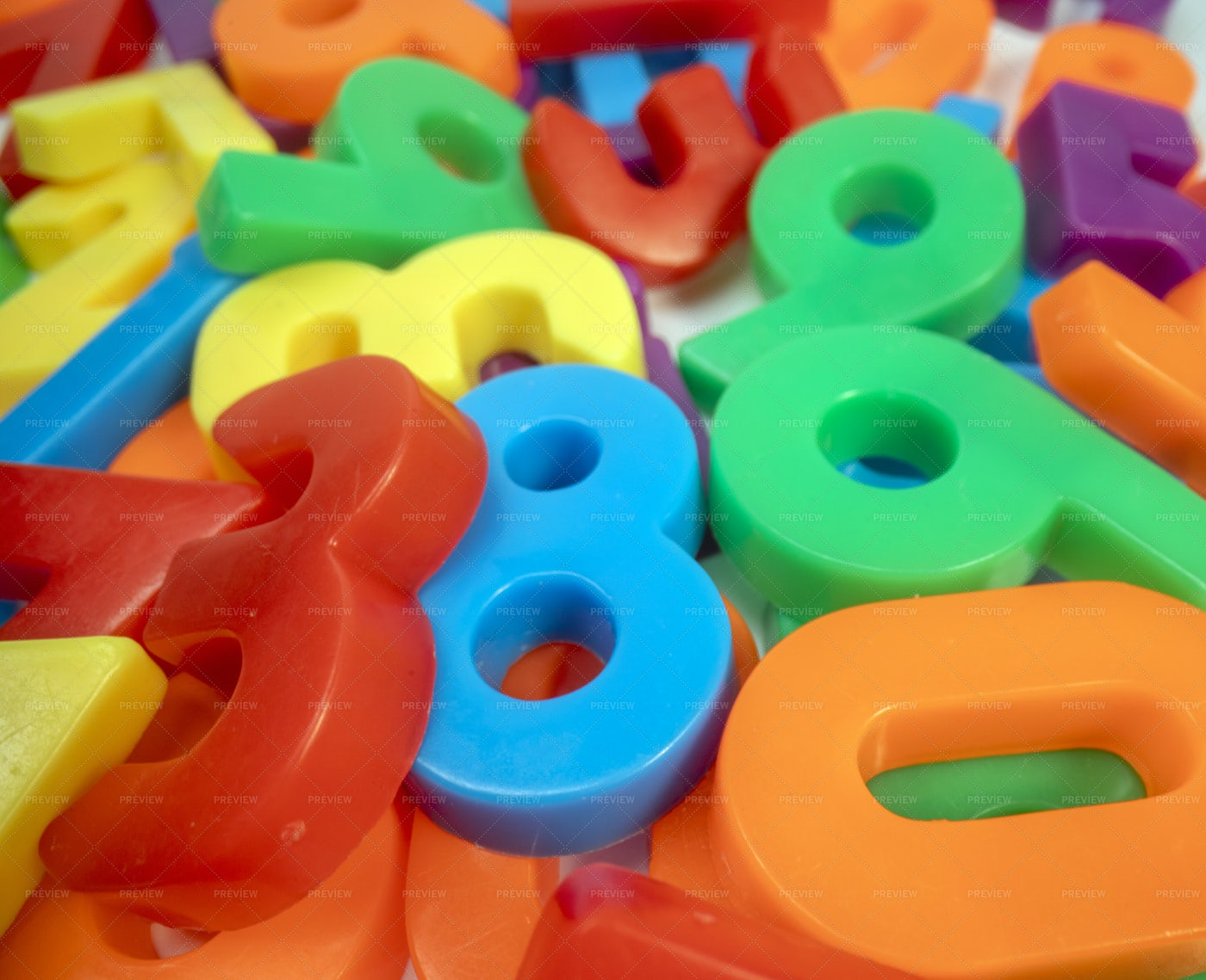 Colourful Magnet Numbers: Stock Photos