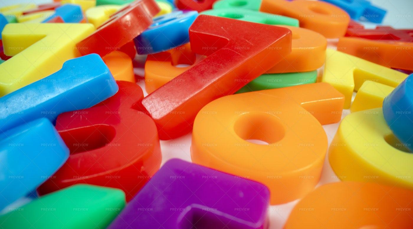 Plastic Numbers: Stock Photos