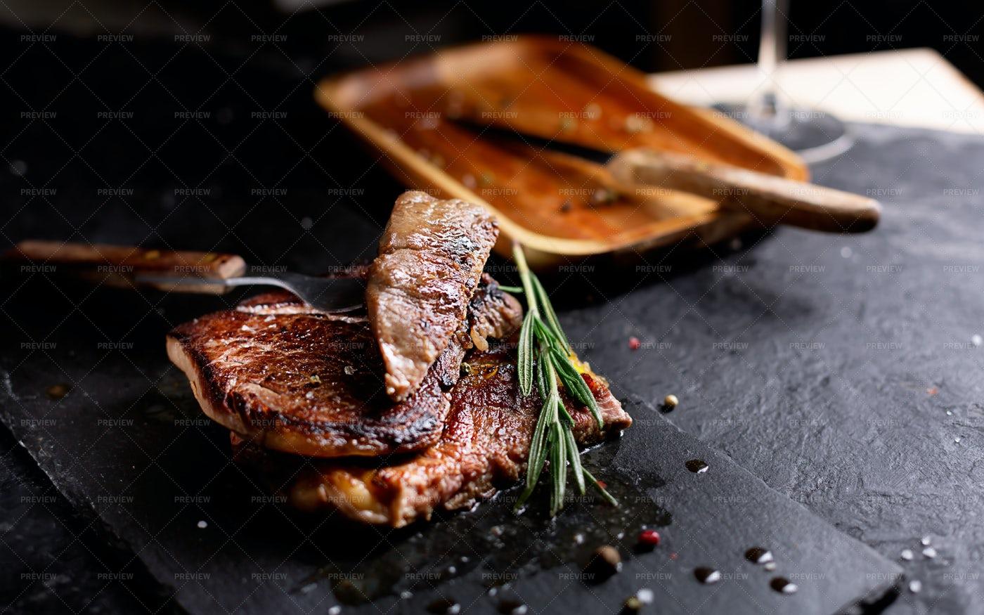 Pieces Of Beef Steak: Stock Photos