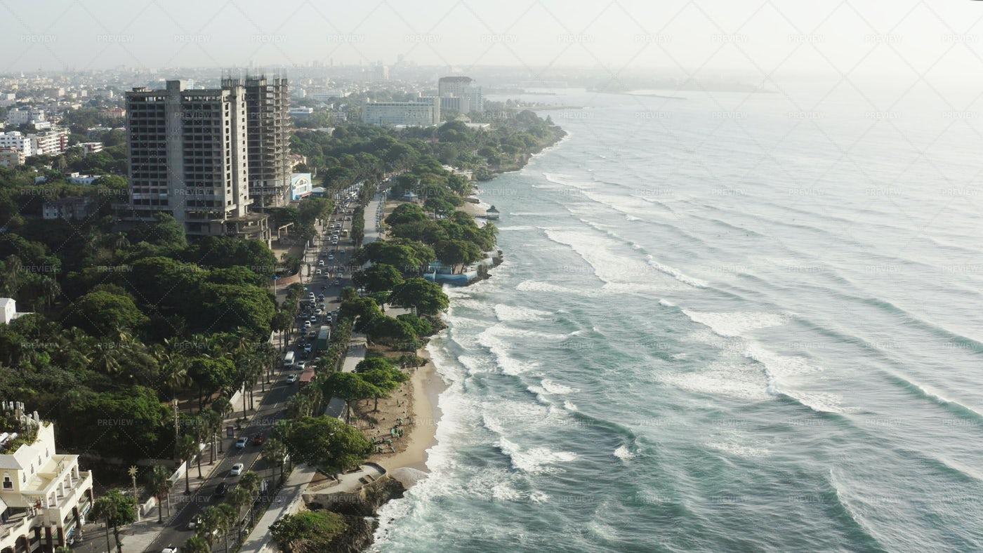 Santo Domingo Aerial View: Stock Photos