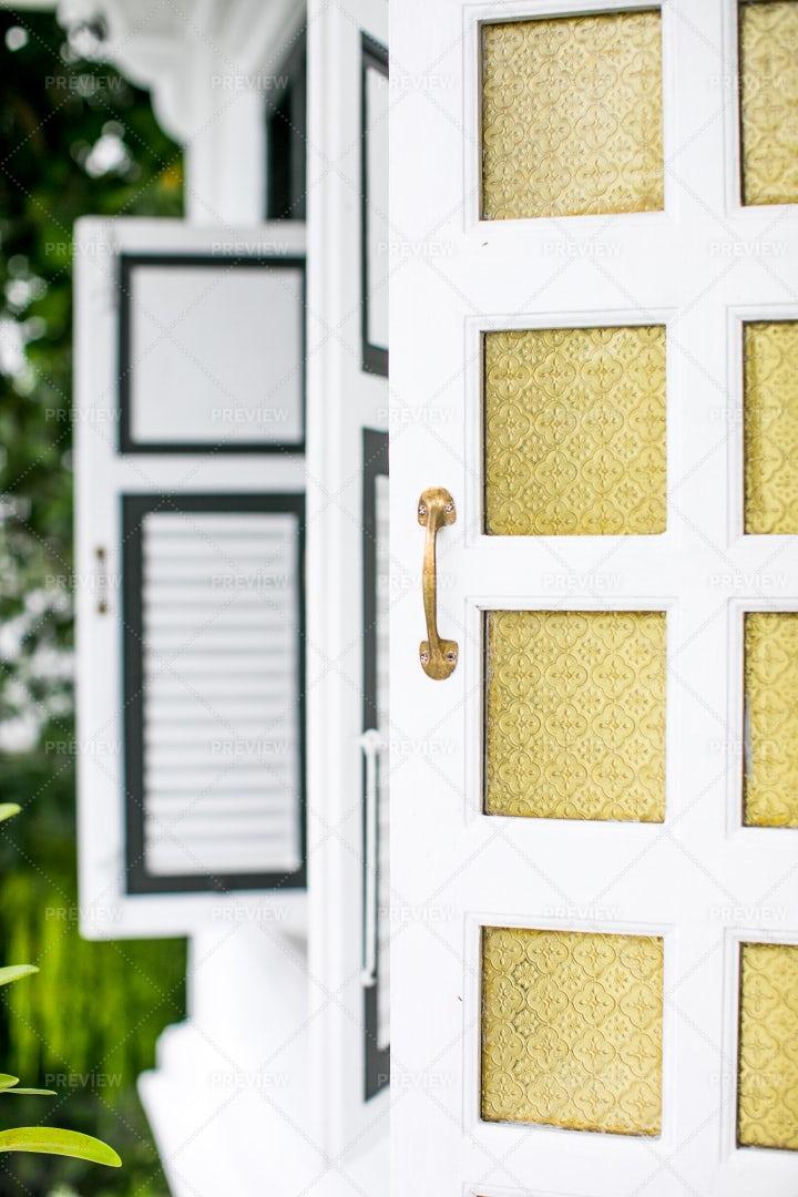 A White Door: Stock Photos