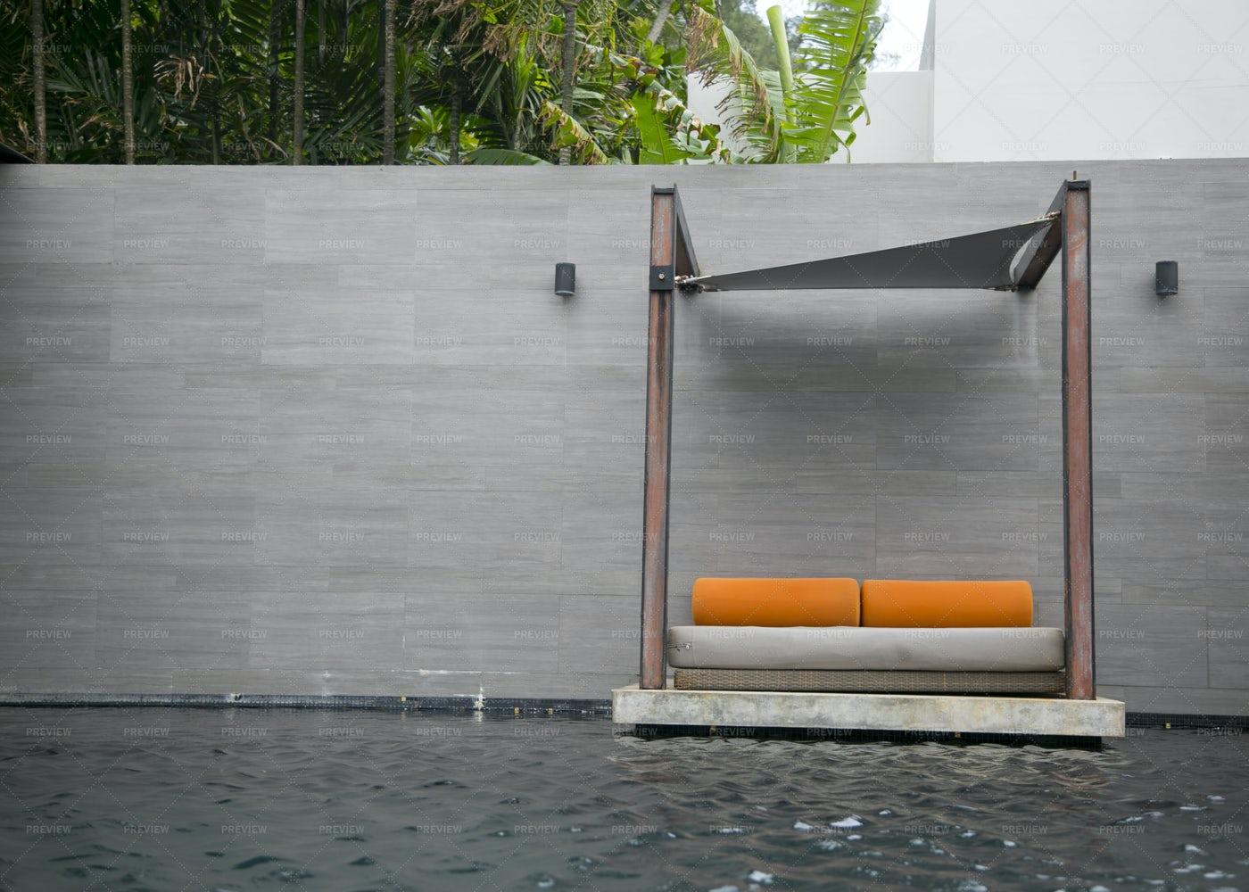 Swimming Pool Furniture: Stock Photos