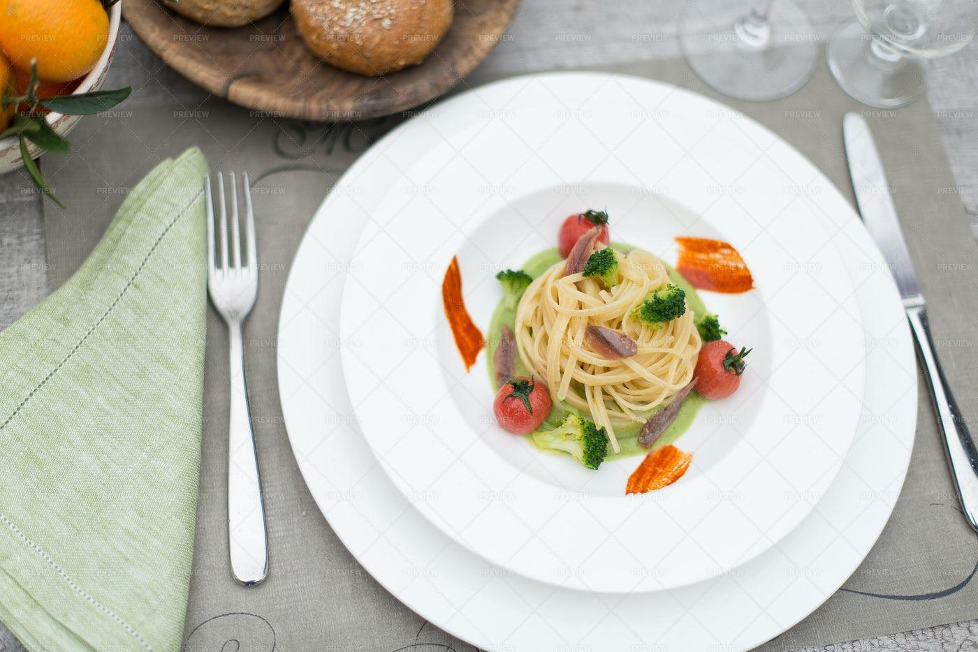 Vegetarian Spaghetti: Stock Photos