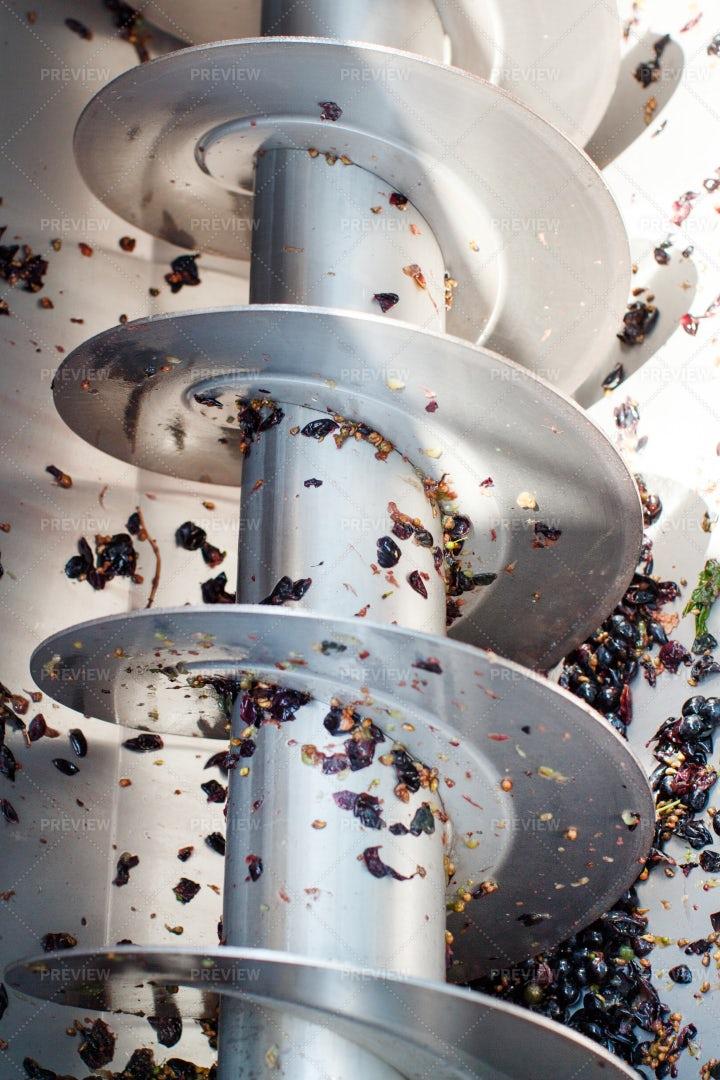 Industrial Grape Crusher: Stock Photos